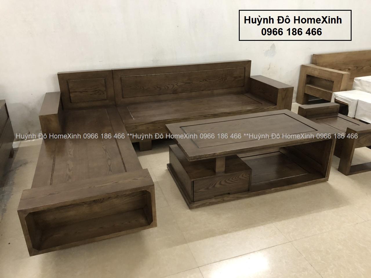 bộ bàn ghế gỗ phòng khách giá rẻ gỗ sồi