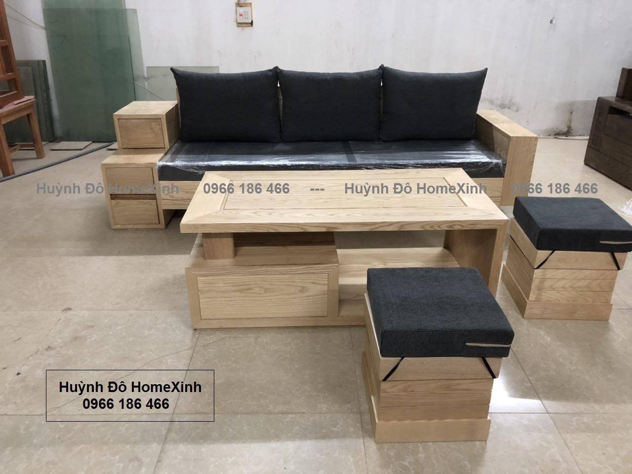 bộ sofa gỗ, bàn ghế phòng khách tại hà nội