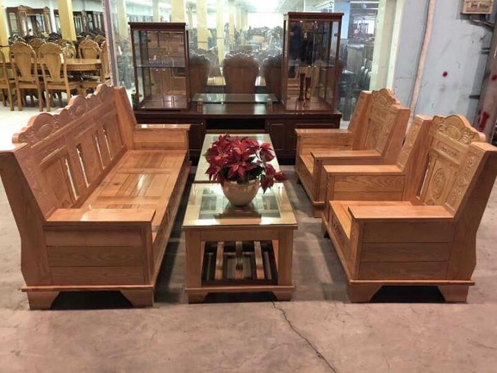 bộ bàn ghế gỗ phòng khách giá rẻ dạng đối