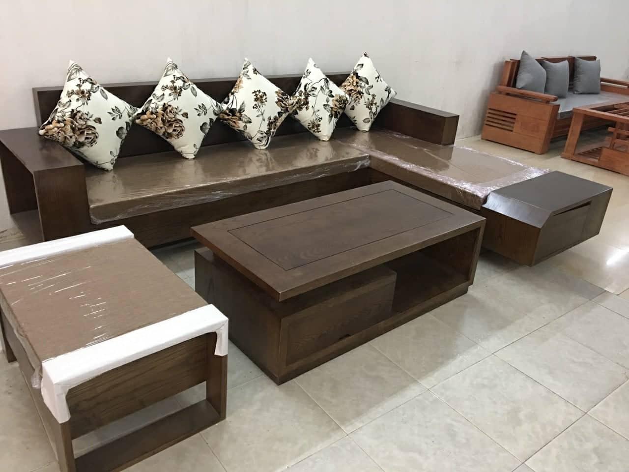 mẫu bàn ghế gỗ phòng khách tại hà nội, kiểu dáng vô cùng thời trang