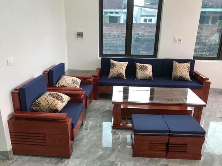 sofa gỗ phòng khách siêu rẻ