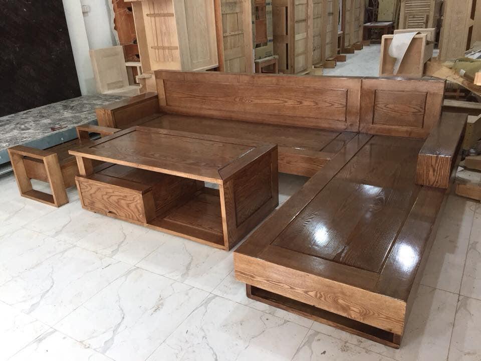 bộ bàn ghế gỗ phòng khách giá rẻ, thời trang