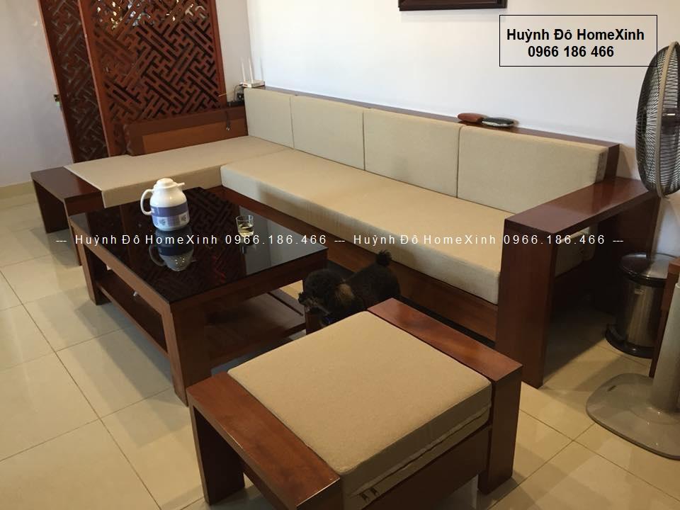 bộ bàn ghế gỗ phòng khách giá rẻ, sofa gỗ cao cấp