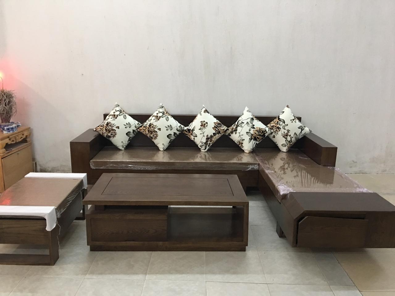 sofa gỗ siêu sang