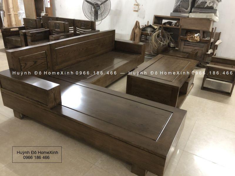 bộ bàn ghế gỗ phòng khách giá rẻ BG 06