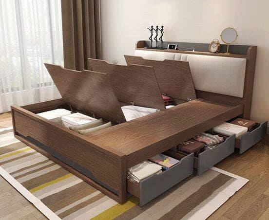 Giường gỗ công nghiệp CN2