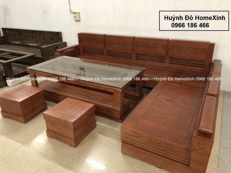Bộ bàn ghế gỗ phòng khách giá rẻ BG05