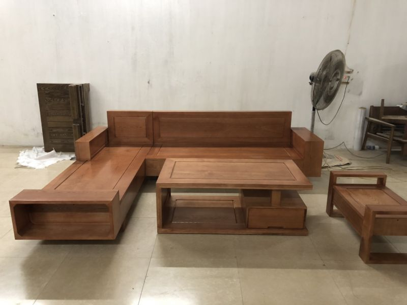 Bộ bàn ghế gỗ phòng khách giá rẻ BG07