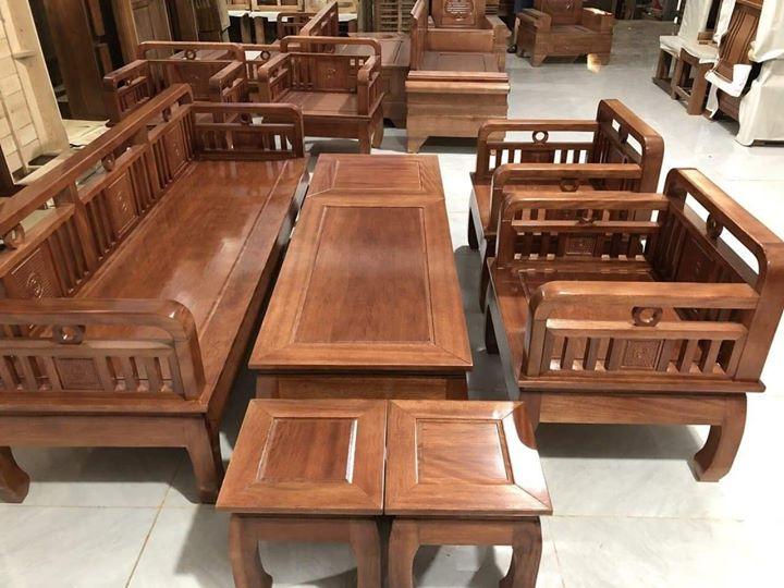 Bộ bàn ghế gỗ phòng khách giá rẻ BG10