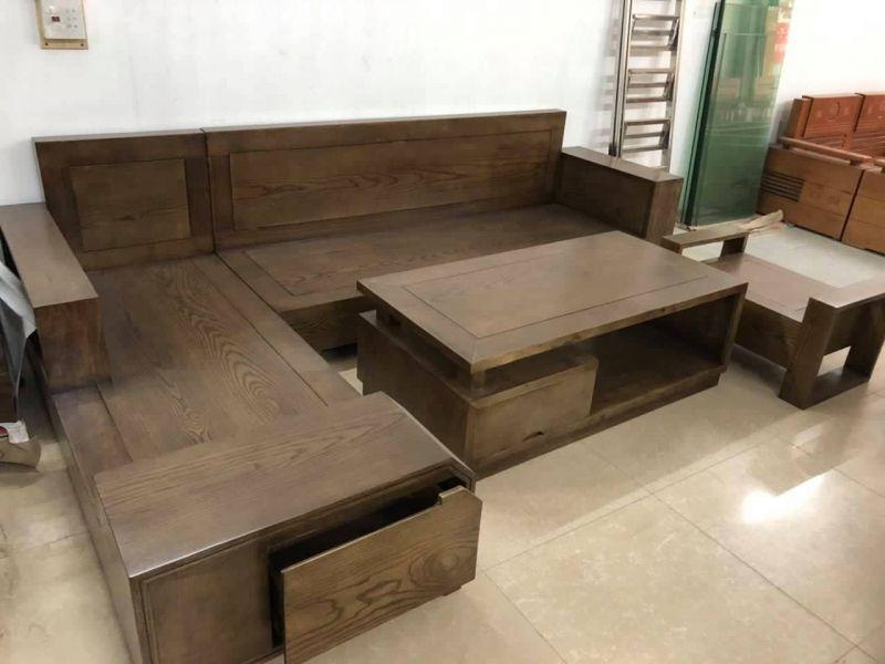 Bộ bàn ghế gỗ phòng khách giá rẻ BG12