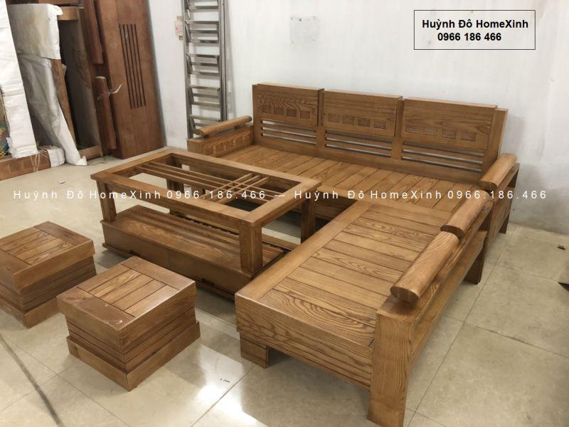 Bộ bàn ghế gỗ phòng khách giá rẻ BG18