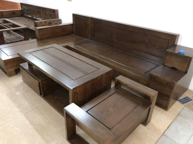 Bộ bàn ghế gỗ phòng khách giá rẻ BG15