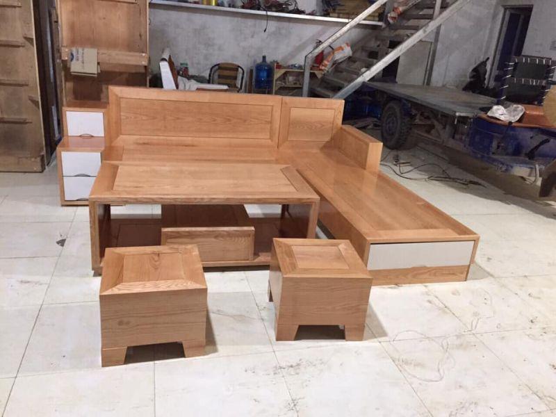 Bộ bàn ghế gỗ phòng khách giá rẻ BG14