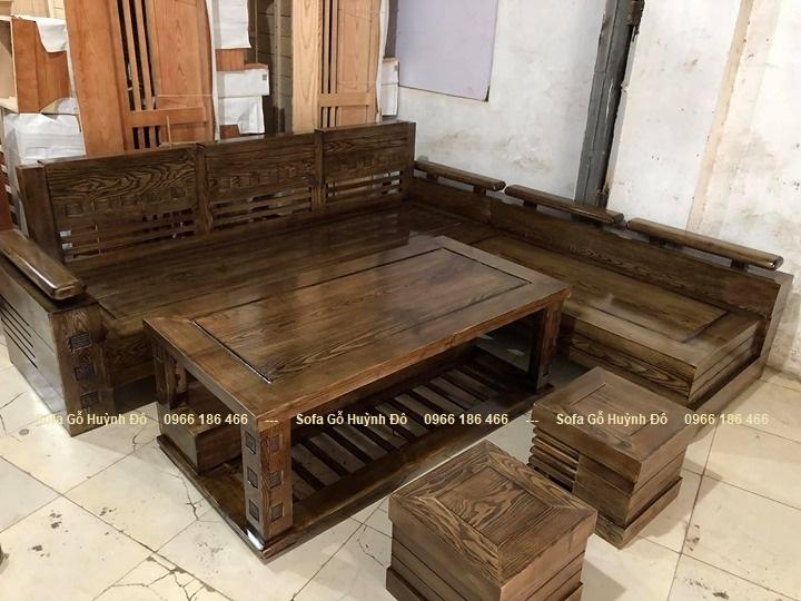 Bộ bàn ghế gỗ phòng khách giá rẻ BG13